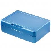 Znünibox Rechteck gross Metallic Blau 60 Stück