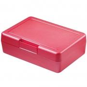Znünibox Rechteck gross Metallic Rot 60 Stück
