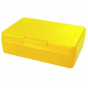 Znünibox Rechteck gross Neon Gelb 60 Stück