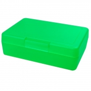 Znünibox Rechteck gross Neon Grün 60 Stück
