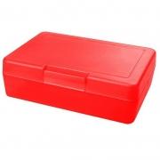Znünibox Rechteck gross Neon Rot 60 Stück